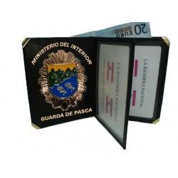 CARTERA PORTAPLACA LIBRO GUARDA DE PESCA (PLACA INCLUIDA)