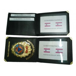 PLACA Y BILLETERA PROTECCION CIVIL (PLACA INCLUIDA)