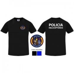 CAMISETA CUERPO NACIONAL POLICIA HELICOPTEROS