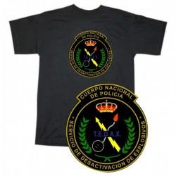 Camiseta Tedax Cuerpo Nacional Policia Antigua