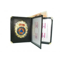 CARTERA LIBRO PROTECCION CIVIL (PLACA INCLUIDA)