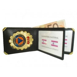 CARTERA  PORTAPLACAS PROTECCION CIVIL (PLACA INCLUIDA)