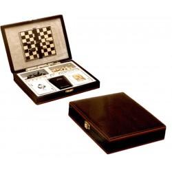 Estuche juegos cartas, dados, ajedrez