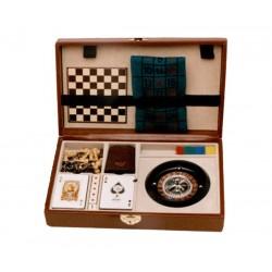 Estuches juego ruleta, dados, cartas y ajedrez