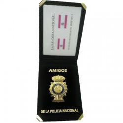 CARTERA AMIGOS DE LA POLICIA NACIONAL (placa incluida)