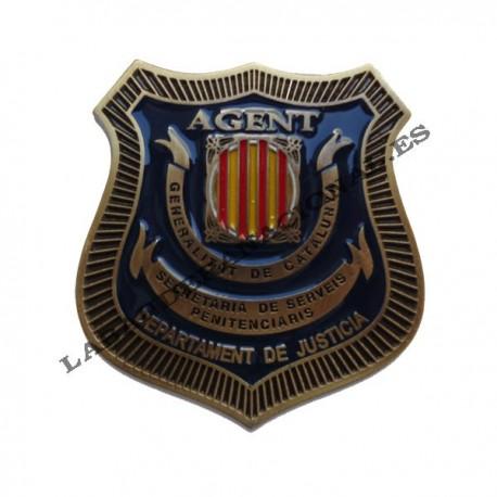 Placa funcionario de prisiones catalunya
