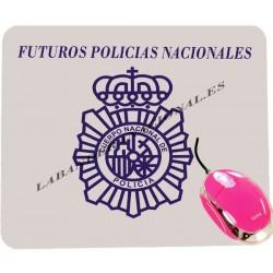 Alfombrilla ratón futuros policias nacionales