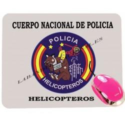 alfombrilla de ordenador cuerpo nacional de policia helicóptero